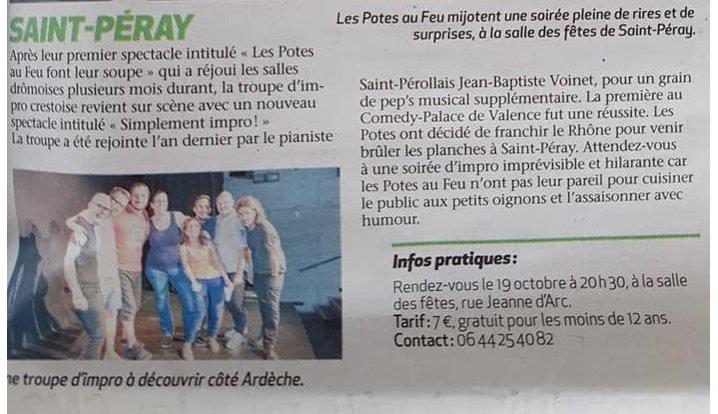 Les Potes au feu à Saint-Péray, octobre 2018